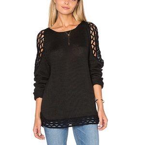 Rove Black Crochet Sweater Size S